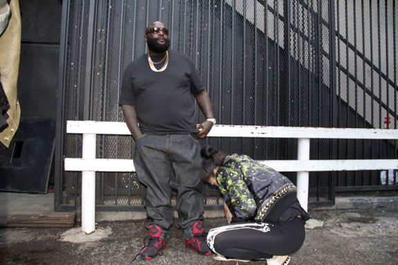 Rick Ross wearing Kamikaze