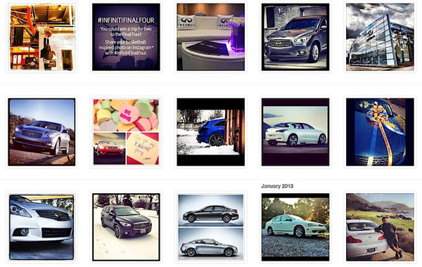 Infiniti contest on Instagram