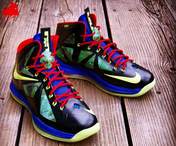 "ad8330a268 There is a new LeBron X out there. It is a custom show shoe made from  GourmetKickz. It is a called the ""Man of Steel"" edition to pay tribute to  Superman."