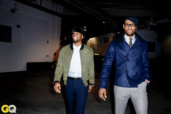Dwyane Wade and LeBron James in GQ