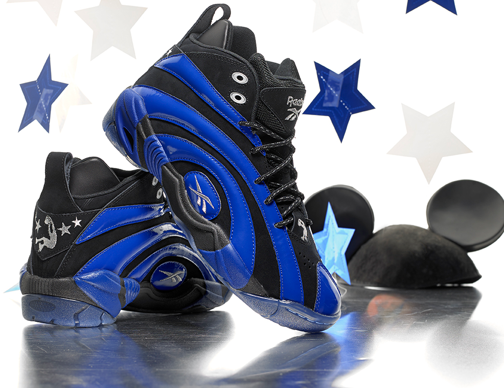 e0c05f6248b2d7 Reebok Classic Shaqnosis in black blue for an August 2nd release ...