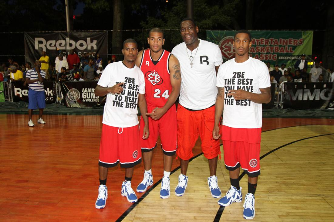 7f511b065c0 Shawn Kemp and Isaiah Thomas visit Rucker Park for Kamikaze II Mid ...