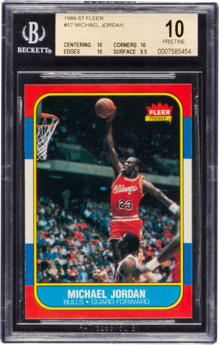Michael Jordan 1986 Rookie Card