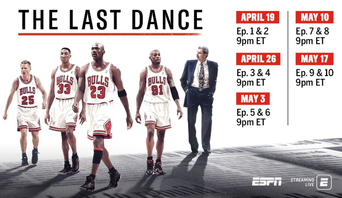 ESPN Moves 10-Part Michael Jordan Documentary 'The Last Dance' Up To April